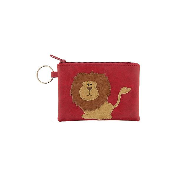 Online shopping for vegan brand LAVISHY's playful applique vegan key ring coin purse with adorable lion applique. Great for everyday use, fun gift for family & friends. Wholesale at www.lavishy.com for gift shop, clothing & fashion accessories boutique, book store in Canada, USA & worldwide since 2001.