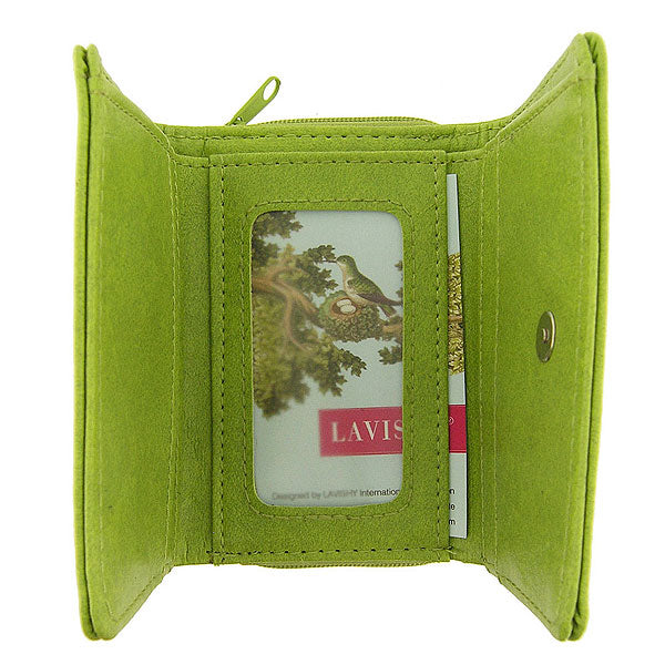 Online shopping for vegan brand LAVISHY's Eco-friendly, ethically made, cruelty free small tri-fold embroidered wallet for women features delightful peony flower & butterfly embroidery motif. Wholesale at www.lavishy.com for retailers-gift shop, clothing & fashion accessories boutique & book store worldwide since 2001.
