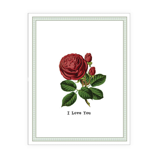Shop LAVISHY Eco-friendly I love your red rose flower greeting card from Sarah collection by PETA approved vegan brand LAVISHY. Great for your partner, girlfriend/boyfriend, spouse or family. Wholesale available at www.lavishy.com to social stationary stores, gift shops and boutiques worldwide.