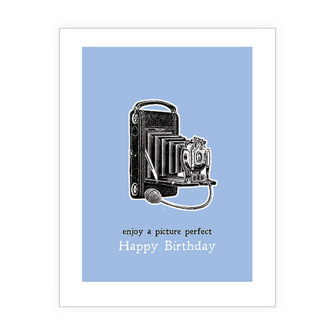 Shop LAVISHY Eco-friendly camera birthday greeting card from Sarah collection by PETA approved vegan brand LAVISHY. A great gift for you or your co-workers, friends and family. Wholesale available at www.lavishy.com to social stationary stores, gift shops and boutiques worldwide.