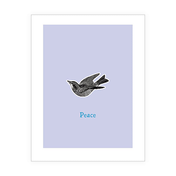 Shop LAVISHY Eco-friendly Peace bird greeting card from Sarah collection by PETA approved vegan brand LAVISHY. A great gift for you or your co-workers, friends and family. Wholesale available at www.lavishy.com to social stationary stores, gift shops and boutiques worldwide.