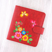 Online shopping for vegan brand LAVISHY's fun & playful embroidered flower and butterfly vegan/faux leather passport/travel wallet. It's a great gift idea for you or your friends & family. Wholesale available at www.lavishy.com with many unique & fun fashion accessories.