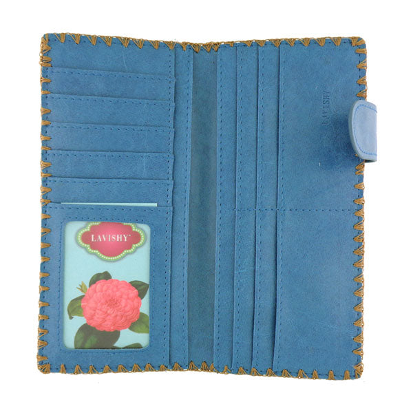 Designed by vegan brand LAVISHY, this Eco-friendly, ethically made, cruelty free large flat wallet for women features delightful embroidery motif of Suzani. Wholesale available at www.lavishy.com along with other unique & fun vegan fashion accessories for retailers like gift shop & boutique.