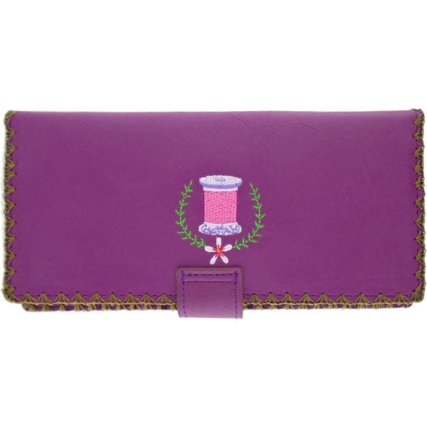 Designed by vegan brand LAVISHY, this Eco-friendly, ethically made, cruelty free large flat wallet for women features delightful embroidery & flower motif of sewing machine. Wholesale available at www.lavishy.com along with other unique & fun vegan fashion accessories for retailers like gift shop & boutique.