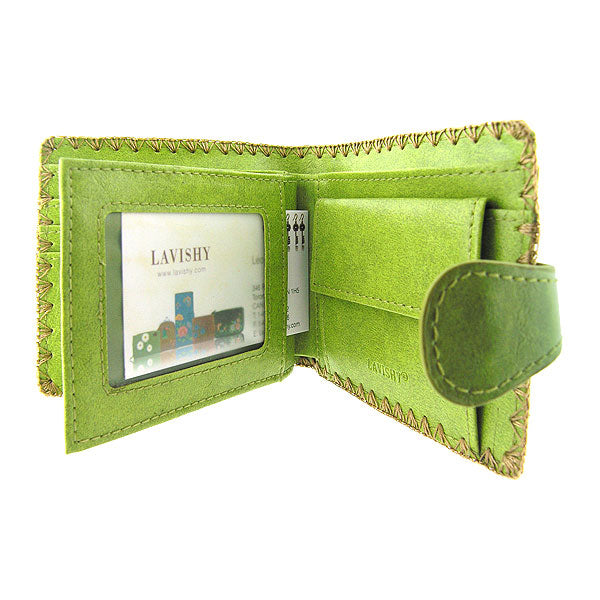 Online shopping for vegan brand LAVISHY's embroidered Indian paisley & flower medium bifold wallet for women that is Eco-friendly, ethically made, cruelty free. Great for everyday use or a gift for your family & friends. Wholesale at www.lavishy.com to gift shops, fashion accessories & clothing boutiques worldwide since 2001.