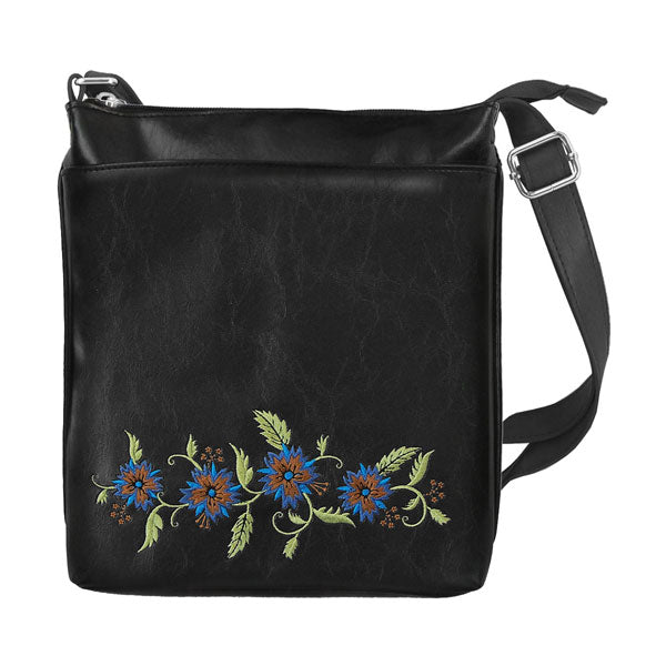 Designed by vegan brand LAVISHY, this Eco-friendly, ethically made, cruelty free cross body/messenger bag features lovely carnation flower embroidery motif. Wholesale available at www.lavishy.com along with other unique & fun vegan fashion accessories for retailers like gift shop & boutique.