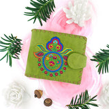 97-287: Paisley embroidered medium wallet