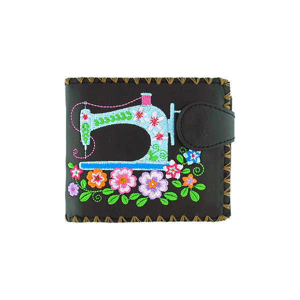 97-208: Embroidered medium wallet-sewing machine
