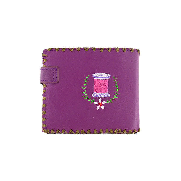 Shop vegan brand LAVISHY's embroidered sewing machine & flower medium bifold wallet for women that is Eco-friendly, ethically made, cruelty free. Great for everyday use or a gift for your family & friends. Wholesale at www.lavishy.com to gift shops, fashion accessories & clothing boutiques worldwide since 2001.