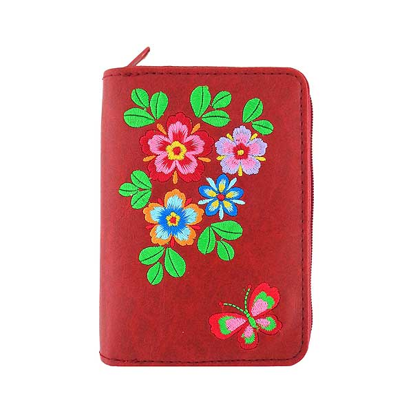 Shop vegan brand LAVISHY's embroidered flower & butterfly vegan cardholder that is Eco-friendly, ethically made, cruelty free. Great for everyday use or a gift for your family & friends. Wholesale at www.lavishy.com to gift shops, fashion accessories & clothing boutiques, book stores worldwide since 2001.