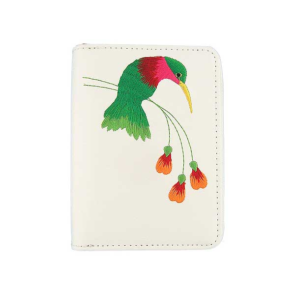 Shop vegan brand LAVISHY's embroidered hummingbird & flower vegan cardholder that is Eco-friendly, ethically made, cruelty free. Great for everyday use or a gift for your family & friends. Wholesale at www.lavishy.com to gift shops, fashion accessories & clothing boutiques, book stores worldwide since 2001.