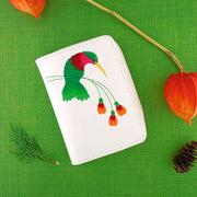 Shop vegan brand LAVISHY's embroidered vegan/faux leather cardholder with delightful hummingbird embroidery motif.  It's Eco-friendly, ethically made, cruelty free. A great gift for you or your friends & family. Wholesale available at www.lavishy.com with many unique & fun fashion accessories.