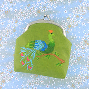 Shop vegan brand LAVISHY's peacock & feather embroidered kiss lock frame vegan coin purse that is Eco-friendly, ethically made, cruelty free. Great for everyday use or a gift for your family & friends. Wholesale at www.lavishy.com to gift shops, fashion accessories & clothing boutiques worldwide since 2001.