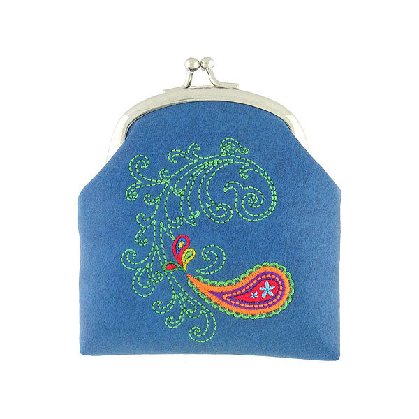 Designed by PETA approved vegan brand LAVISHY, this Eco-friendly, ethically made, cruelty free retro style kiss lock frame coin purse with lovely paisley embroidery motif. Wholesale available at www.lavishy.com along with other unique & fun vegan fashion accessories for retailers like gift shop & boutique.