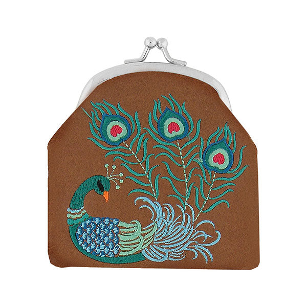 Designed by PETA approved vegan brand LAVISHY, this Eco-friendly, ethically made, cruelty free retro style kiss lock frame coin purse with lovely peacock embroidery motif. Wholesale available at www.lavishy.com along with other unique & fun vegan fashion accessories for retailers like gift shop & boutique.