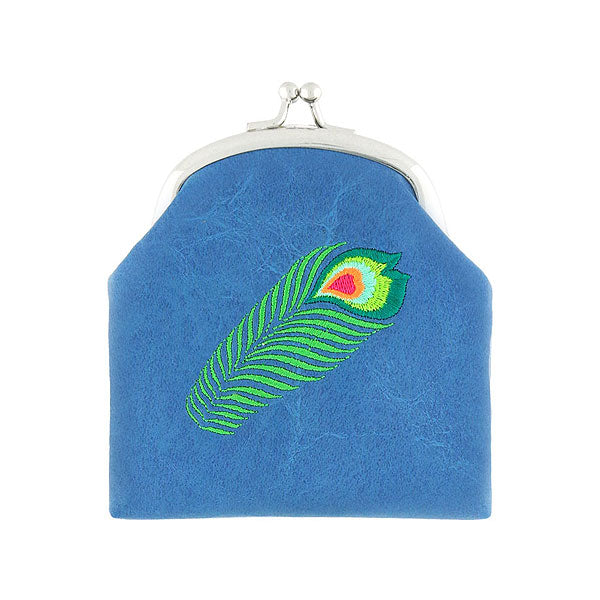 Designed by vegan brand LAVISHY, this Eco-friendly, ethically made, cruelty free retro style kiss lock frame coin purse with lovely peacock embroidery motif. Wholesale available at www.lavishy.com along with other unique & fun vegan fashion accessories for retailers like gift shop & boutique.