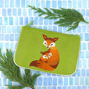 Online shopping for LAVISHYfox mama & baby embroidered vegan small pouch/coin purse that is Eco-friendly, ethically made, cruelty free. Great for everyday use or a gift for your family & friends. Wholesale at www.lavishy.com to gift shops, fashion accessories & clothing boutiques worldwide since 2001.