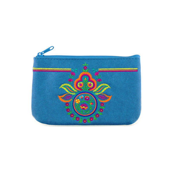 Shop vegan brand LAVISHY's Indian paisley embroidered vegan small pouch/coin purse that is Eco-friendly, ethically made, cruelty free. Great for everyday use or a gift for your family & friends. Wholesale at www.lavishy.com to gift shops, fashion accessories & clothing boutiques worldwide since 2001.