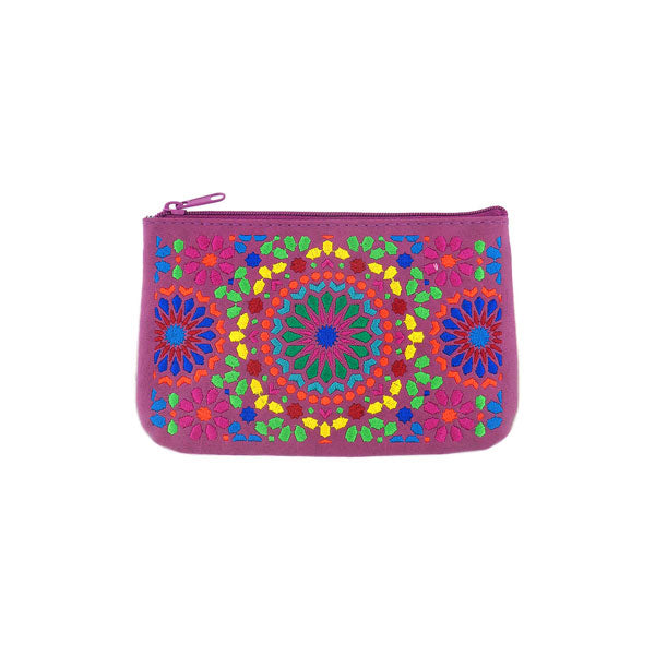 Shop vegan brand LAVISHY's Moroccan pattern embroidered vegan small pouch/coin purse that is Eco-friendly, ethically made, cruelty free. Great for everyday use or a gift for your family & friends. Wholesale at www.lavishy.com to gift shops, fashion accessories & clothing boutiques worldwide since 2001.