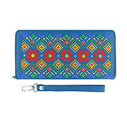 Online shopping for vegan brand LAVISHY's Eco-friendly, ethically made, cruelty free Ukraine embroidery pattern vegan large wristlet wallet for women. Wholesale at www.lavishy.com for retailers like gift shop, clothing & fashion accessories boutique & book store worldwide since 2001.