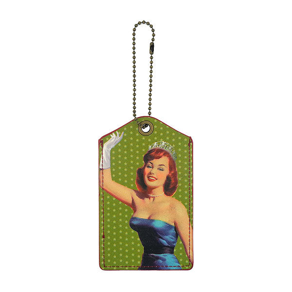 99-413: Social butterfly pinup girl vegan luggage tag