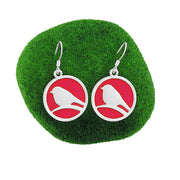 Shop LAVISHY handmade silver plated enamel bird earrings. A great gift for you or your girlfriend, wife, co-worker, friend & family. Wholesale available at www.lavishy.com with many unique & fun fashion accessories for gift shops and boutiques in Canada, USA & worldwide.