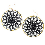 Online shopping for LAVISHY handmade thread woven dreamcatcher statement earrings with bohemian vibe are fun, light weight and very affordable. They will make a loud fashion statement wherever you go.