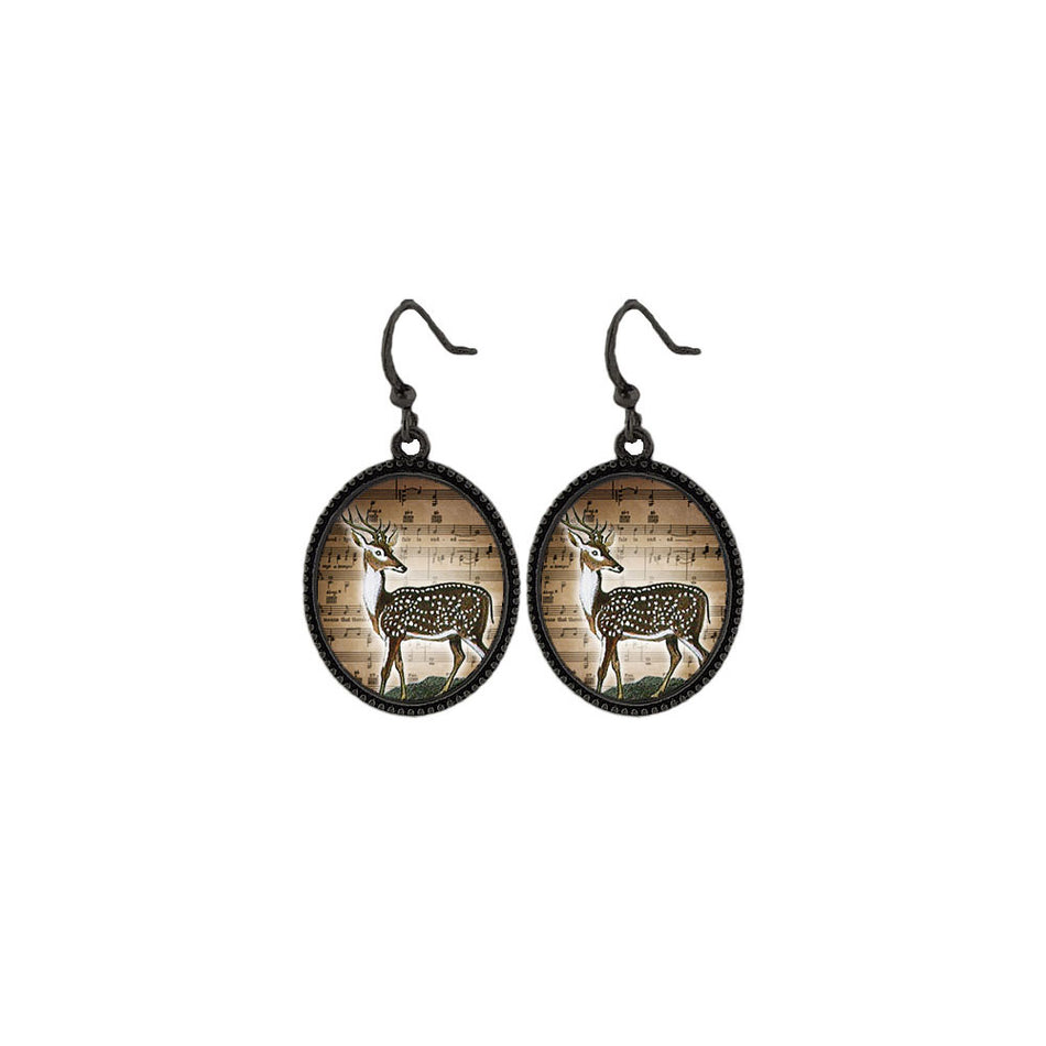 Shop LAVISHY's unique, beautiful & affordable vintage style handmade deer earrings. A great gift for you or your girlfriend, wife, co-worker, friend & family. Wholesale available at www.lavishy.com with many unique & fun fashion accessories.