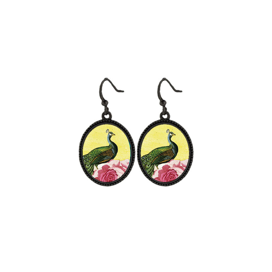 Shop LAVISHY's unique, beautiful & affordable vintage style handmade peacock & peony flower earrings. A great gift for you or your girlfriend, wife, co-worker, friend & family. Wholesale available at www.lavishy.com with many unique & fun fashion accessories.