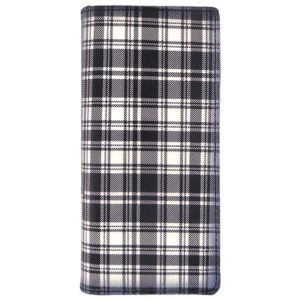 Online shopping for vegan brand LAVISHY's Eco-friendly Foxhound puppy & Scottish Tartan pattern print vegan large wallet. Great for everyday use, fun gift for family & friends. Wholesale at www.lavishy.com for gift shops, clothing & fashion accessories boutiques, book stores in Canada, USA & worldwide since 2001.