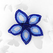 BCG-001: Handmade glass seed flower brooch