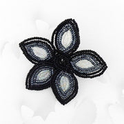 BCG-002: Handmade glass seed flower brooch