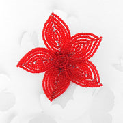 BCG-003: Handmade glass seed flower brooch