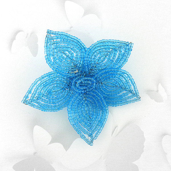 BCG-004: Handmade glass seed flower brooch