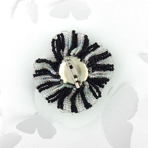Online shopping for handmade glass seed bead flower brooch. It is fun, colorful and affordable with bohemian vibe.