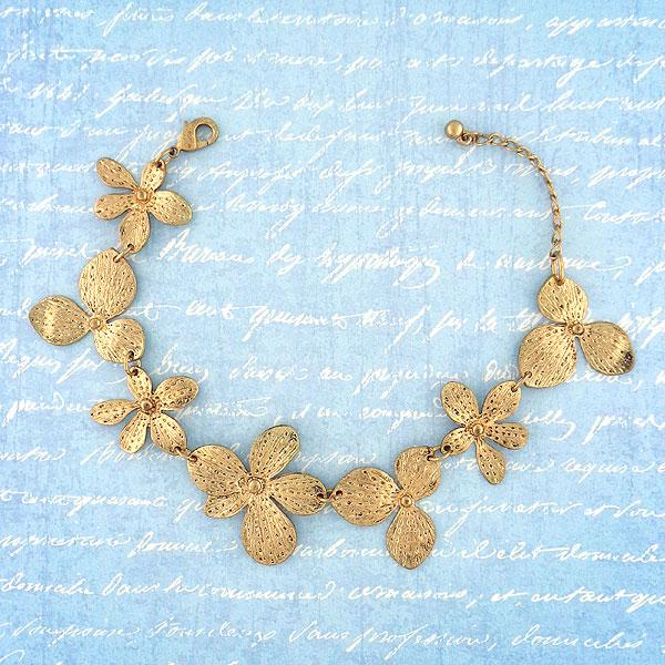 Shop handmade metal orchid flower bracelet. A great gift for you or your girlfriend, wife, co-worker, friend & family. These are exclusive for LAVISHY Boutique only.