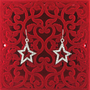 Online shopping for Rhodium or 12k gold plated star earrings with Austrian crystal accent. A great gift for you or your girlfriend, wife, co-worker, friend & family. Wholesale at www.lavishy.com with many unique & fun fashion accessories.