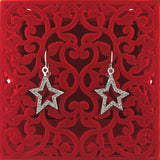 CO-031: Star earrings with Austrian crystal accent