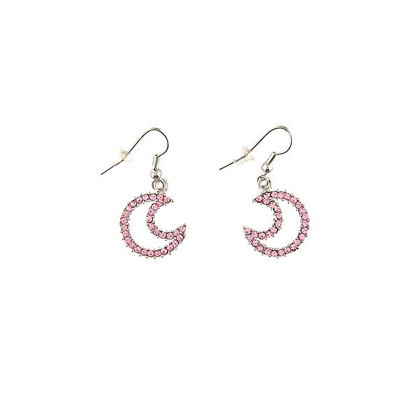 Online shopping for Rhodium or 12k gold plated moon earrings with Austrian crystal accent. A great gift for you or your girlfriend, wife, co-worker, friend & family. Wholesale at www.lavishy.com with many unique & fun fashion accessories.