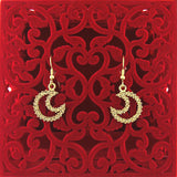 CO-032: Moon earrings with Austrian crystal accent