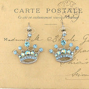CO-034: Crown earrings with Austrian crystal accent