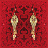 CO-035: Drop earrings with cubic zirconia & Austrian crystal accent