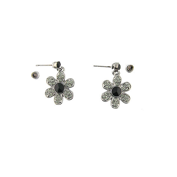 Online shopping for Rhodium or 12k gold plated daisy flower earrings with Austrian crystal accent. A great gift for you or your girlfriend, wife, co-worker, friend & family. Wholesale at www.lavishy.com with many unique & fun fashion accessories.