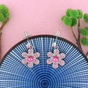 CO-036: Daisy earrings with Austrian crystal accent