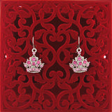 CO-037: Crown earrings with Austrian crystal accent