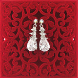 CO-038: Drop earrings with cubic zirconia & Austrian crystal accent