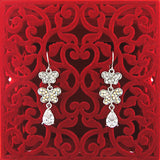 CO-048: Butterfly earrings with cubic zirconia & Austrian crystal accent