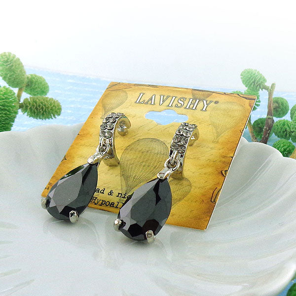 Online shopping for Austrian crystal earrings with cubic zirconia drop. A great gift for you or your girlfriend, wife, co-worker, friend & family. Wholesale available at www.lavishy.com with many unique & fun fashion accessories.