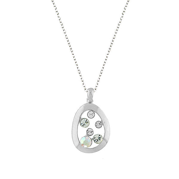 CO-068: Pendant necklace with Austrian crystal accent