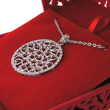 CO-078: Heart necklace with Austrian crystal accent
